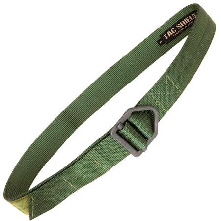 """TACSHIELD (MILITARY PROD) T32SMOD Tactical Riggers Belt 30""""-34"""" Double Wall Webbing OD Green Small 1.75"""" Wide"""""""""""
