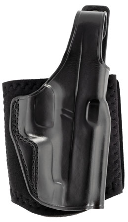Galco AG834B Ankle Glove Black Leather Fits Glock 48 Right Hand
