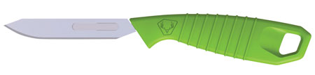 HME HMEKN-PRBBM Super Lite Replace a Blade Tanto Plain Polypropylene Green Handle