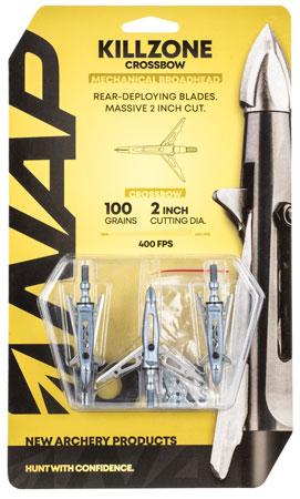 Walkers NAP-60-814 Killzone Crossbow 100 grain Broadhead 3 Pack