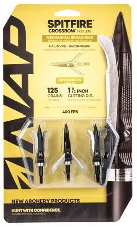 Walkers NAP-60-697 Spitfire Crossbow 125 grain Broadhead 3 Pack