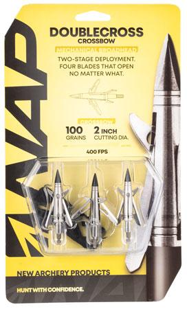 Walkers NAP-60-087 Spitfire Doublecross X-Bow 100 grain Broadhead 3 Pack
