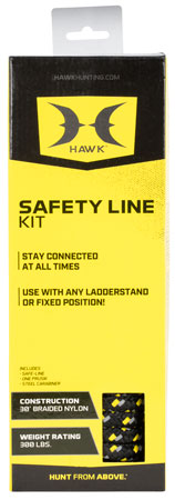 Walkers HWK-HA500 Safety Line Kit Nylon Black