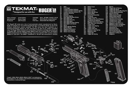 TekMat TEKR17RUGER-SR9 Original Cleaning Mat Ruger SR9 Parts Diagram 11