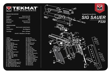 TekMat TEKR17SIGP220 Original Cleaning Mat Sig P220 Parts Diagram 11