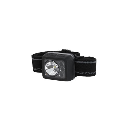 LuxPro LP738 Ultra Compact Headlamp Black 360 Lumens Red/White/Green Cree LED Rechargeable