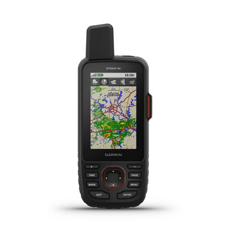 Garmin 0100208801 GPSMAP 66i Black Rechargeable Li-ion Garmin Explore App Wi-Fi/Bluetooth/ANT+