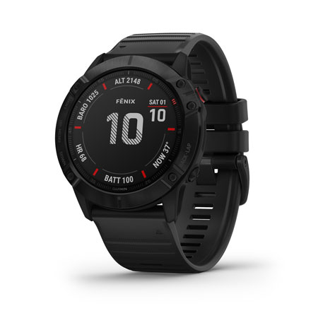 Garmin 0100215700 fenix 6X Sapphire Watch Black iPhone/Android