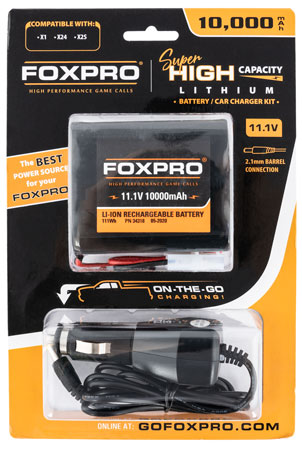 Foxpro SUPBATTCHG Super High Capacity Battery & Car Charger 11.1v