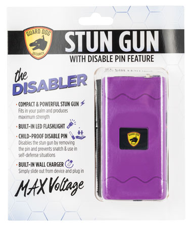Guard Dog SDGDDHVPR Disabler Stun Gun w/ Flashlight Purple Rubber Coated