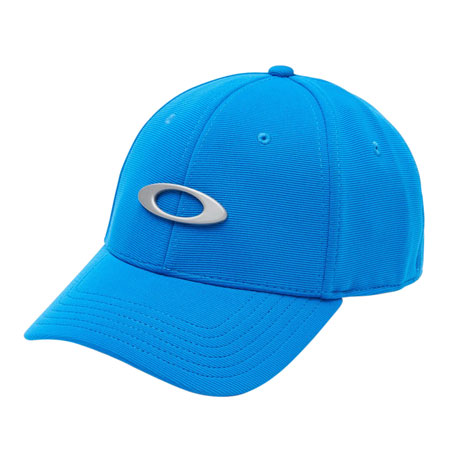 OAKLEY (LUXOTTICA) 911545-62T Tincan Cap Polyester/Elastane Large/X-Large Ozone Blue w/ Sliver Oakley Icon