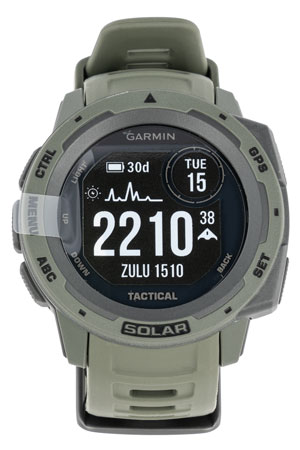 Garmin 0100229314 Instinct Solar Tactical Watch Moss Solar iPhone/Android Bluetooth/ANT+