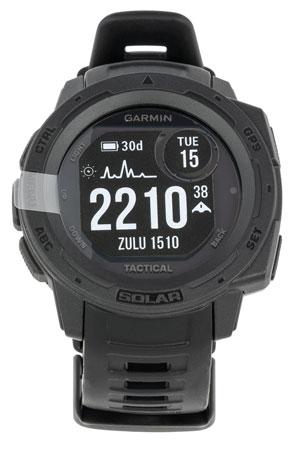 Garmin 0100229313 Instinct Solar Tactical Watch Black Solar iPhone/Android Bluetooth/ANT+