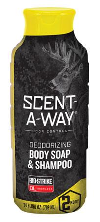 Hunters Specialties 100090 Scent-A-Way Bio-Strike Odor Eliminator Body Soap & Shampoo 24 oz