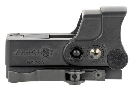 Aimshot HGPROCG HG-Pro 1x 34mm 2 MOA Green Circle Dot Black Hardcoat Anodized