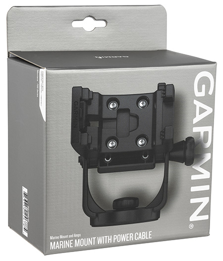 Garmin 0101288102 Marine Mount w/Power Cable Black