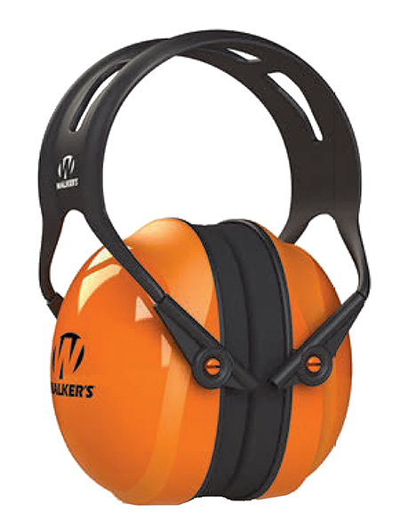 Walkers GWP-SF-PSM-SM Maxprotec Polymer/Plastic 26 dB Over the Head Orange Ear Cups w/Black Band Small