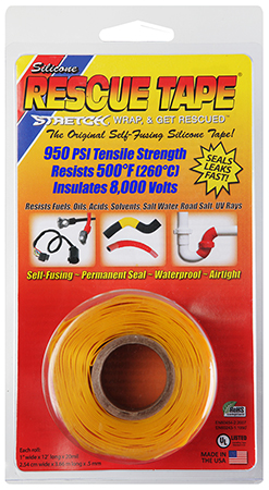 Harbor USC05 Rescue Tape 1x12''x20mm Silicone Yellow in.