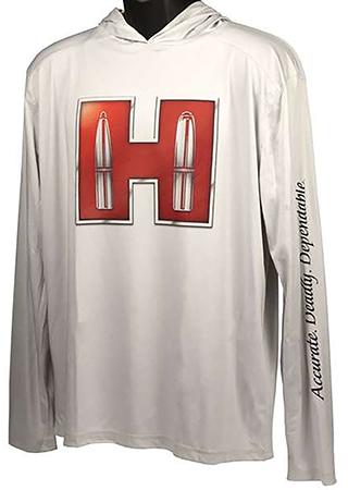 Hornady 99692XXXL Solar Hoodie White w/Red Logo Lo