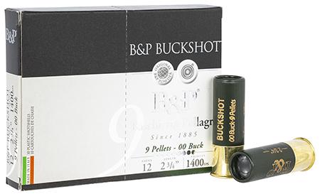 B&P 12B00BK Buckshot 12ga 2.75
