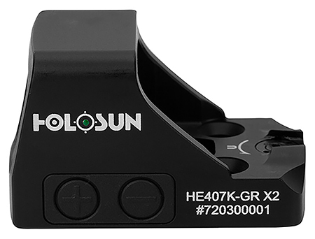 Holosun HE407K GR X2 Pistol 1x 6 MOA Green Dot Bla