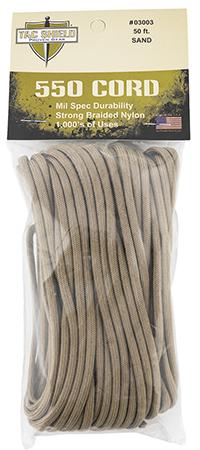 Tacshield 03003 550 Cord Sand 50' Long