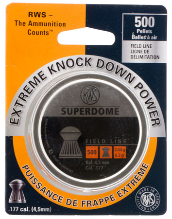 RWS 2317378 Superdome Pellets .177 Pellet Lead 500