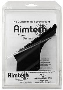 Aimtech ASM2 Scope Mount For Remington 870 12 Gauge Dovetail Style Black Hard Coat Anodized Finish