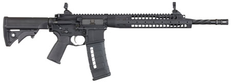 LWRC SIX8A5RCK16 SIX8 A5 Semi-Automatic 6.8mm Rem SPC II 16.1 HB FB FH 30+1 Adjustable Black Stk Flat Dark Earth Cerakote Black in.