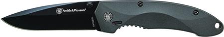 S&W Knives SW6000B SWAT Magic Folder 3.3 4034 SS Blk Alum Hndl Blk in.