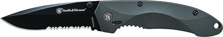 S&W Knives SW6000BS SWAT Magic Folder 3.3 4034 SS Blk Alum Hndl Blk in.