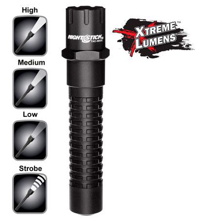 Nightstick TAC560XL Xtreme Lumens Tactical Flashlight 800/350/140 Lumens CR123A Lithium (2) Black