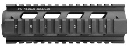 Aim Sports MT041 Stanag Drop-In Quad Rail AR-15|M16|M4 Aluminum Black Anodized