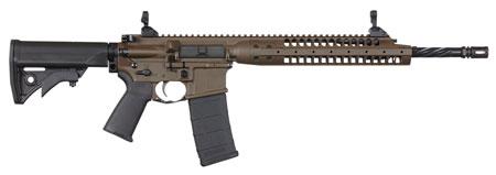 LWRC ICA5RPBC14P Individual Carbine A5 Semi-Automatic 223 Remington|5.56 NATO 14.7 30+1 Adjustable Black Stk Patriot Brown in.