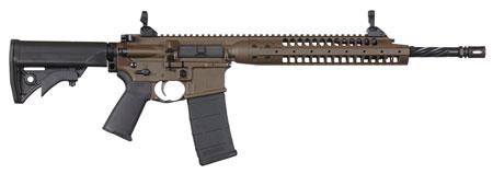 LWRC ICA5RPBC16 Individual Carbine A5 Semi-Automatic 223 Remington|5.56 NATO 16.1 30+1 Adjustable Black Stk Patriot Brown in.