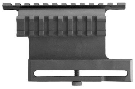 Aim Sports MK007 Dual Rail Side Mount Base For AK47 Picatinny Style Aluminum Black Anodized