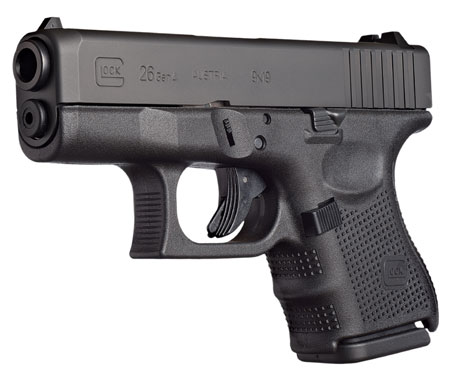 Glock UG2650201 G26 Gen 4 Double 9mm Luger 3.42 10+1 Black Interchangeable Backstrap Grip Black in.