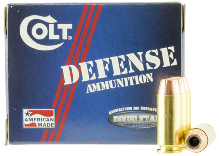 DoubleTap Ammunition Colt Defense, 10MM, 180Gr, Jacketed Hollow Point, 20 Round Box 10MM180CT