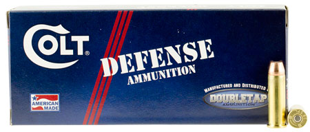 DoubleTap Ammunition Colt Defense, 38 Special, 110Gr, Jacketed Hollow Point, 20 Round Box 38SP110CT