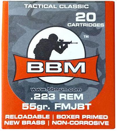 BBM 223FM55ZA Tactical 223 Remington|5.56 NATO 55 GR FMJ 20 Bx| 50 Cs
