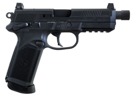 FN 66981 FNX 45 Tactical Single|Double 45 Automatic Colt Pistol (ACP) 5.3 TB 10+1 3 Mags NS Black Interchangeable Backstrap Grip Black Stainless Steel in.