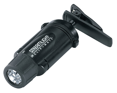 Streamlight 61102 ClipMate Light w/Green LEDs 12 Lumens AAA (3) Black