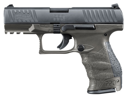 Walther Arms 2823462 PPQ M2 Tungsten Gray *Exclusive* 9mm Luger Single|Double 4 15+1 Black Interchangeable Backstrap Grip Black Slide in.