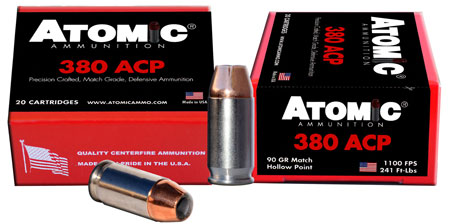 Atomic 00453 Defense 380 Automatic Colt Pistol (ACP) 90 GR Hollow Point 20 Bx| 10 Cs