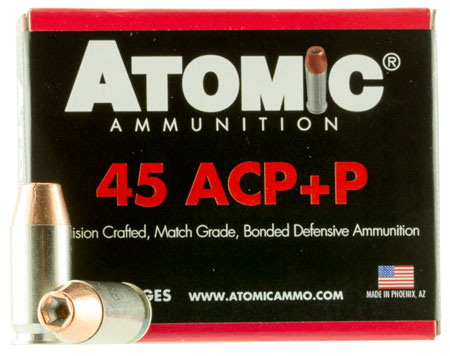 Atomic 00458 Defense 45 Automatic Colt Pistol (ACP) +P 185 GR Bonded Match Hollow Point 20 Bx| 10 Cs