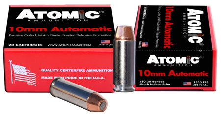 Atomic 00457 Defense 10mm Automatic 180 GR Bonded MHP 20 Bx| 10 Cs