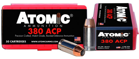 Atomic 00414 Defense 380 ACP 90 GR HPoint 50 Bx| 10 Cs
