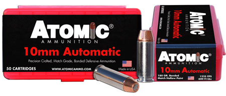 Atomic 00432 Defense 10mm Automatic 180 GR Bonded MHP 50 Bx| 10 Cs