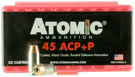 Atomic 00412 Defense 45 ACP +P 185 GR Bonded MHP 50 Bx| 10 Cs