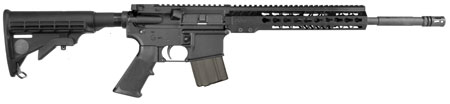 ArmaLite  M-15 Light Tactical Carbine *CO Compliant* Semi-Automatic 223 Remington|5.56 NATO 16 FS 10+1 6-Position Black Stk Black Hard Coat Anodized|Black Phosphate in.
